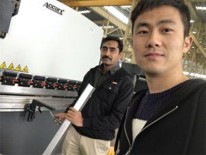 Alžeeria klienditeenindus Press Brake masin meie tehases