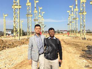 Bangladeshi kliendid tulevad külastama uut tehast, mille oleme ehitanud