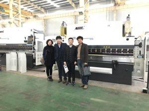 Korea kliendid külastavad meie tehast