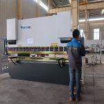 edendamine WC67Y hüdrauliline lehtmetalli presspump, painutusmasin alumiiniumprofiilile